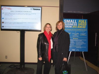 Angie and Gisele participate in Small Business Forum 2012